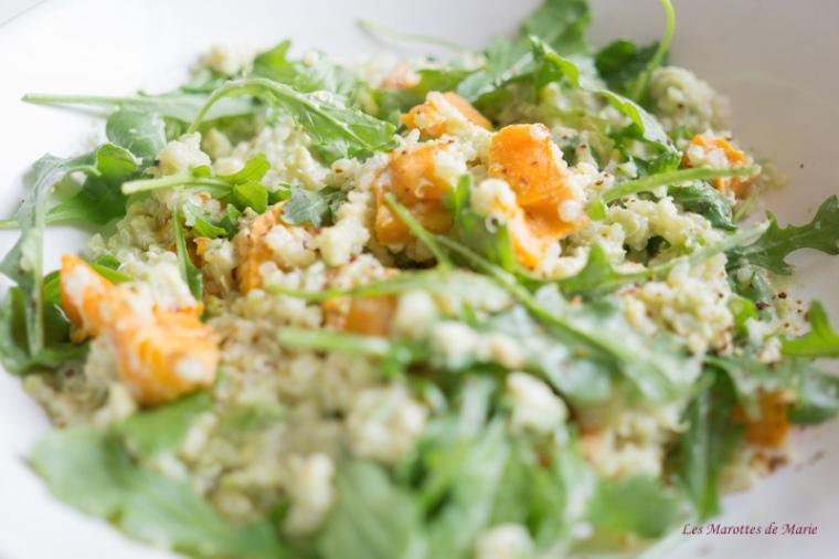 2016 04 17 Salade vegan quinoa patate douce Les Marottes de Marie 2