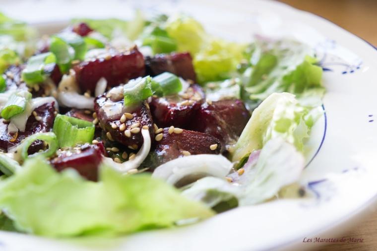 2016 05 18 Salade vegan betteraves roties les Marottes de Marie 2