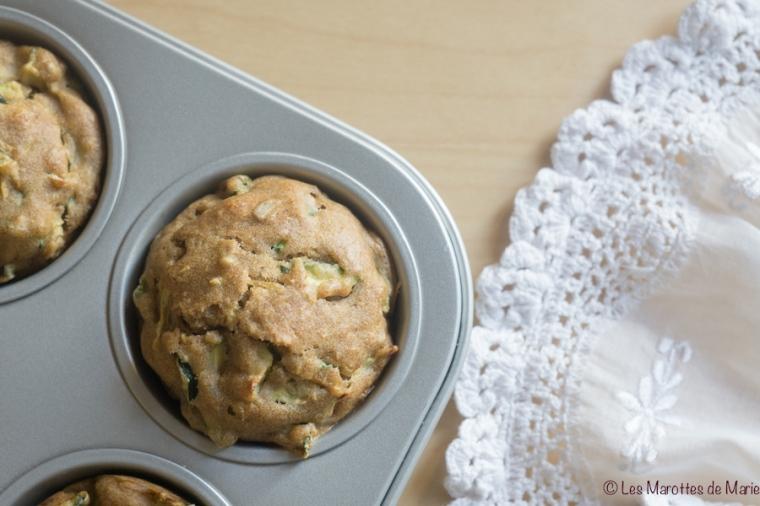 Muffins sales courgette vegan Les Marottes de Marie-1