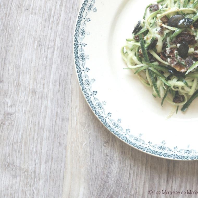 Salade de courgettes vegan - Les Marottes de Marie 2