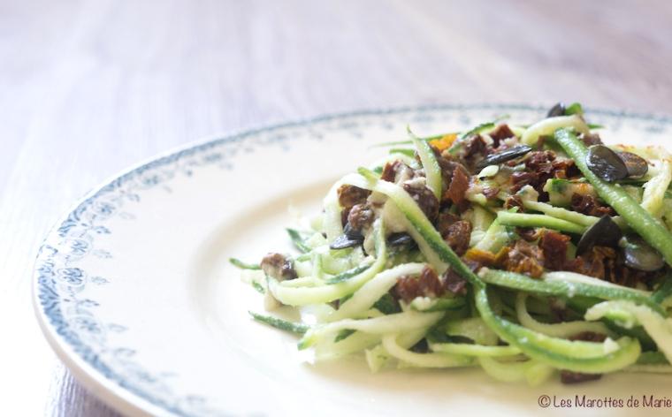 Salade de courgettes vegan - Les Marottes de Marie