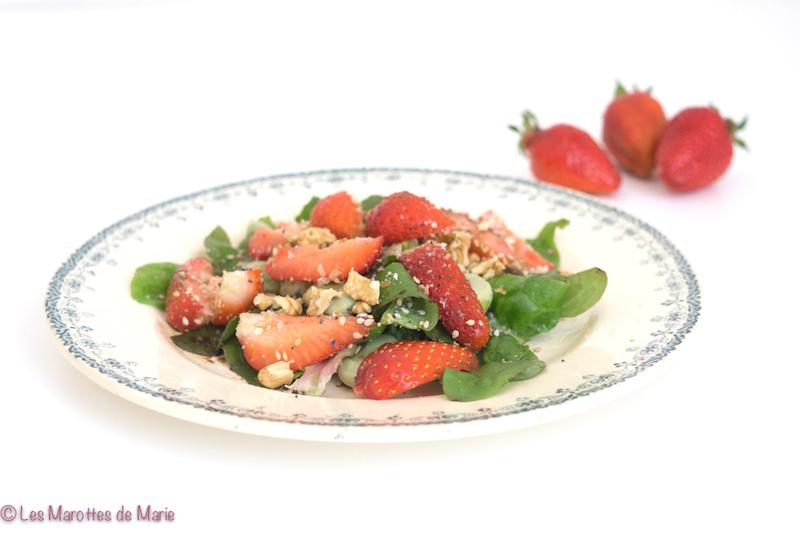 salade feves fraises vegan 2
