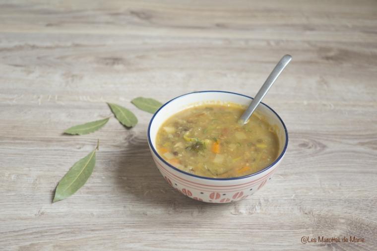 soupe lentilles vegan