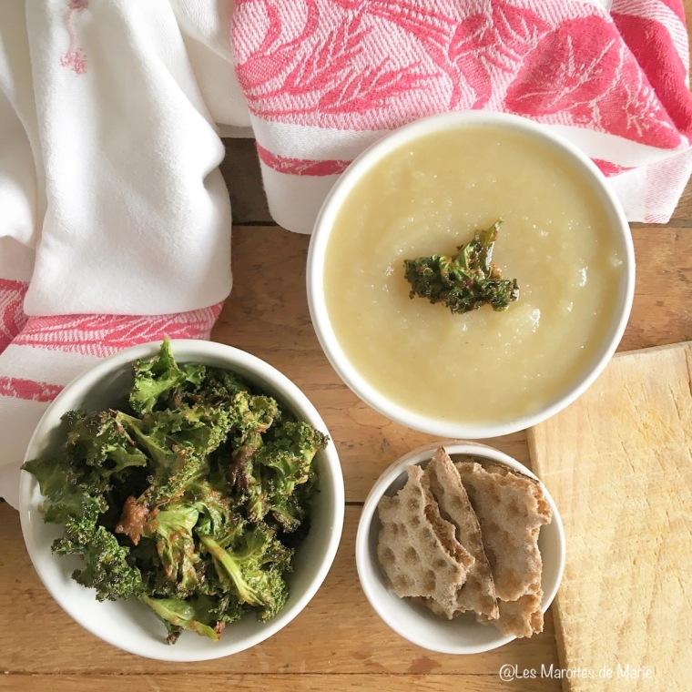 2016 01 05 Soupe chou rave et kale chips vegan Les Marottes de Marie