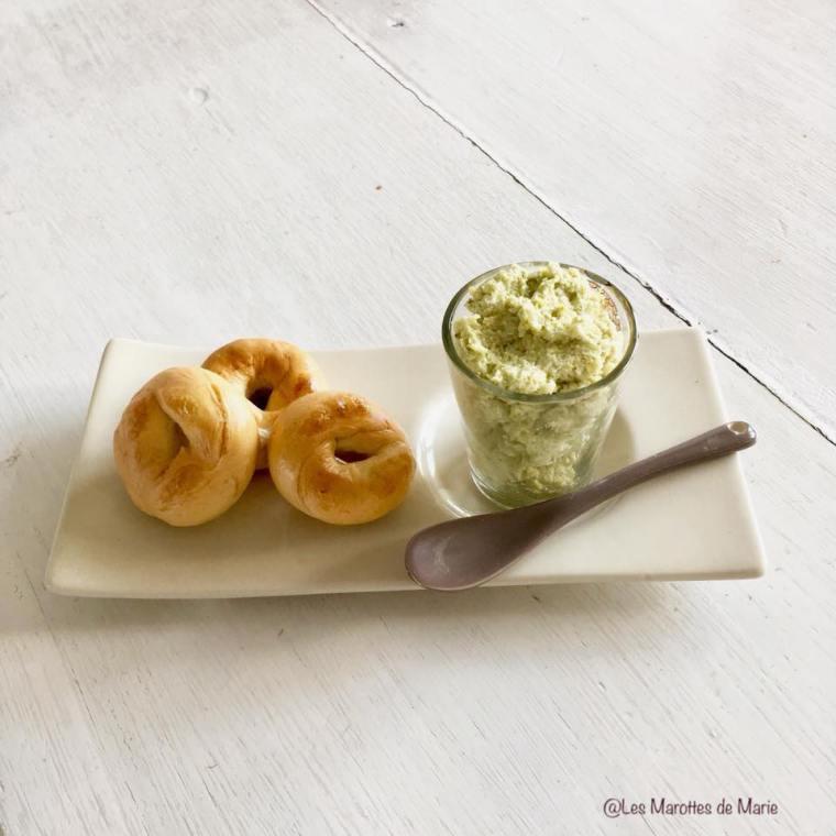 2018 06 17 Les Marottes de Marie mini bagels tartinade brocoli