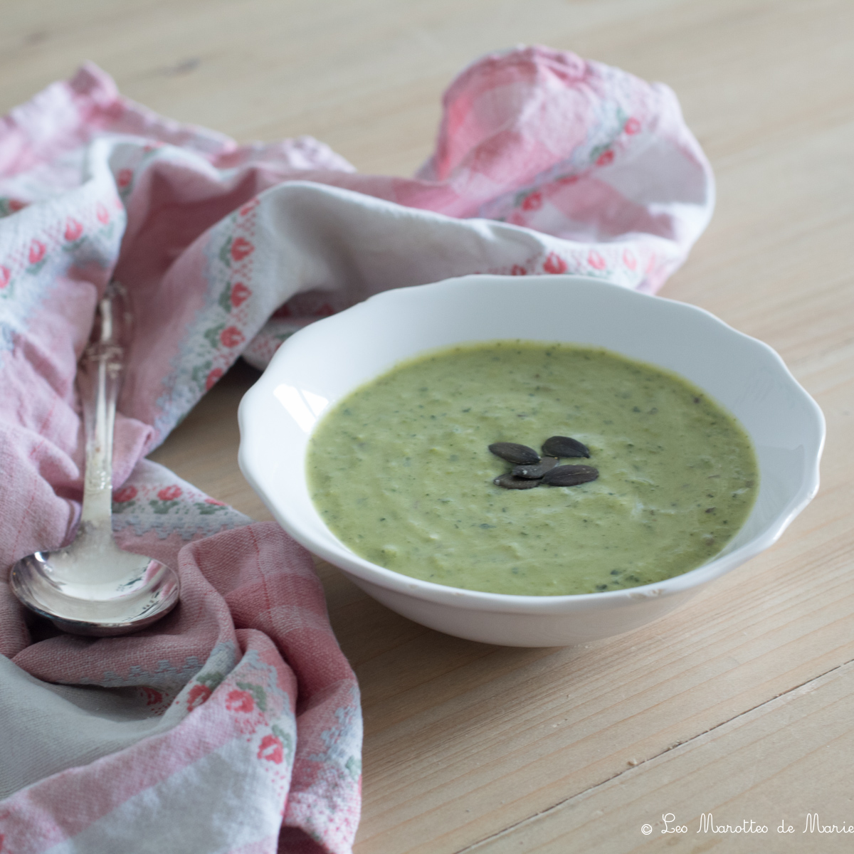 2020 04 26 soupe petits pois courgette cumin Les marottes de marie-2